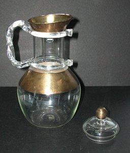 Barrel-Shaped Carafe and Cover