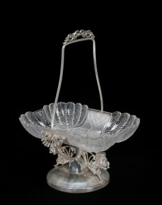 Tray with Silver Stand