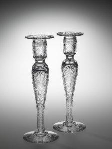 "Pair of Candlesticks in ""Buckingham"" Pattern"