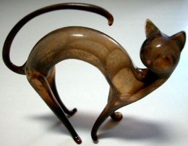 Flameworked Cat
