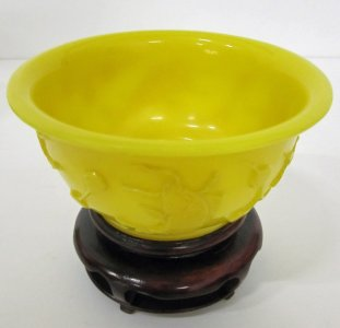 Bowl with Wood Stand