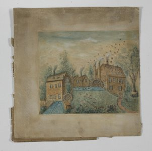 [Mill buildings] [art original] / Joseph Howe.