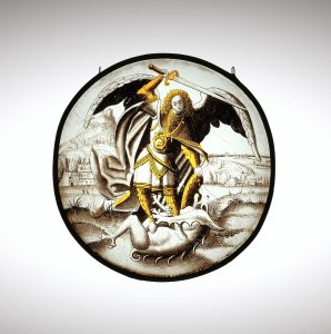 Panel Depicting St. Michael Slaying Lucifer
