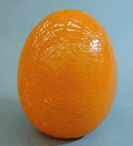 "Small Orange ""Crackle"" Egg Form Prototype"