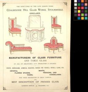 Coalbourne Hill Glass Works, Stourbridge, England: [advertisement]