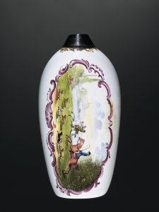 Flask with Hunting Scene