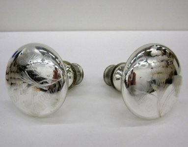 Pair of Engraved Curtain Tiebacks