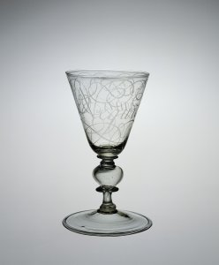 Calligraphic Wineglass