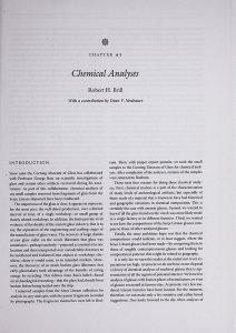 Chapter 43: Chemical Analyses.