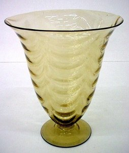Davidson ? Art Glass British A Vintage Art Deco Satin Glass Bowl