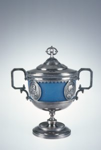 Covered Sugar Bowl with Stand