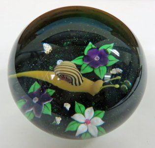 Paperweight with Snail