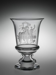 Urn with Classical Scene of a Youth and Two Horses