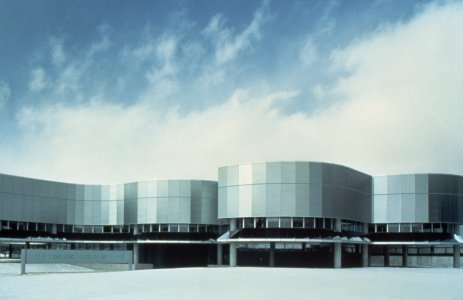 [New museum designed by Gunnar Birkerts, completed construction in 1980] [slide].