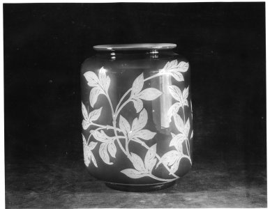 Shape no.: 7391 [vase etched in Peony pattern] [picture].