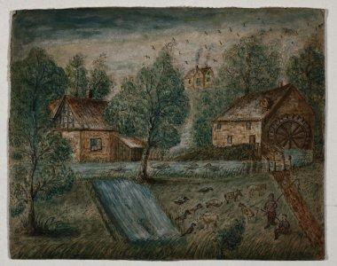 [Mill pond] [art original].