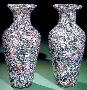 2 Millefiori Vases