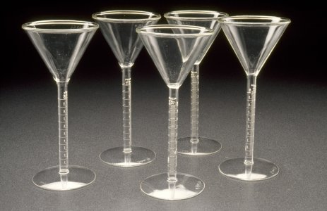 Set of goblets/martini glasses [slide].