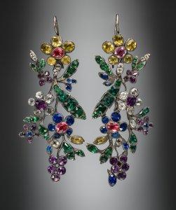 Pair of 'Harlequin' Earrings