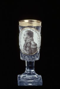 Wineglass with Portrait of General Wittgenstein