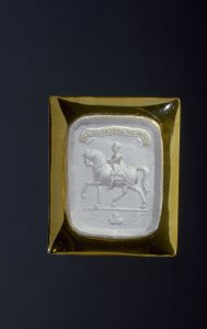 Plaque with Sulphide of Equestrian Figure