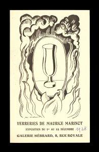 Verreries de Maurice Marinot [invitation].