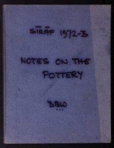 Sīrāf 1972-3: notes on the pottery / DBW.
