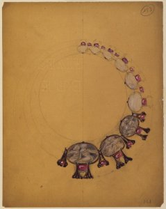 [Design for a figural necklace] [art original].