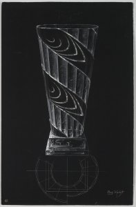 [Design drawing for vase] [art original].