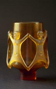 Diatreta figural vase [slide].