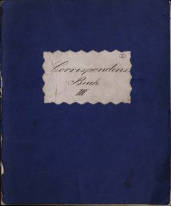 Correspondenz-Buch III.
