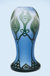 Vase with Abstract Peacock Feather Design