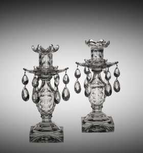 Pair of Lustre Candlesticks