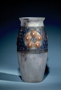 Vase with Flower Medallions