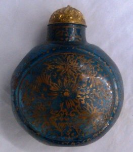 Snuff Bottle with Cork Stopper