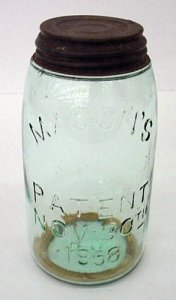 Preserving Jar with Sealing Ring and Cap