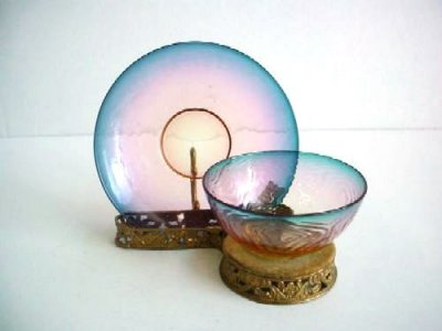 Finger Bowl and Plate with Stand