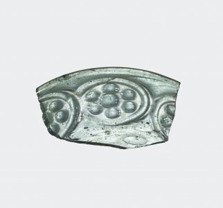 Fragment of Dish with Rosettes