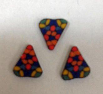 3 Triangular Mosaic Glass Plaques