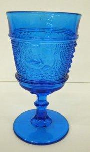 Blue Glass Goblet