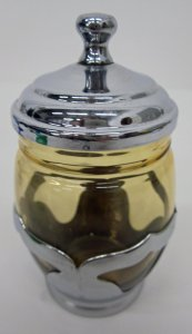 Mustard Jar with Chrome Lid
