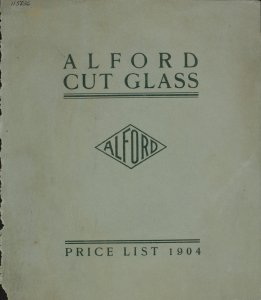 A price list of Alford cut glass.