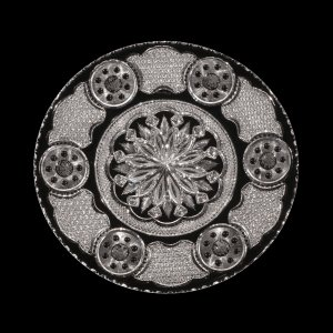 """Cut and Engraved Plate in """"Empire"""" Pattern"""