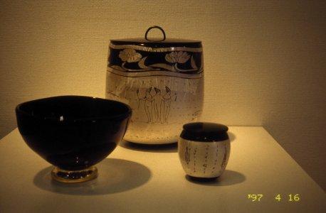 Tea ceremony- chawan, chaire, mizusashi [slide].