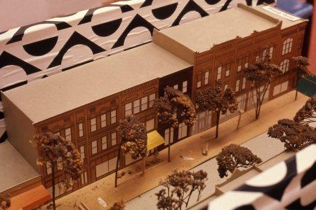 [Scale model of proposed Market Street restoration project] [Slide].