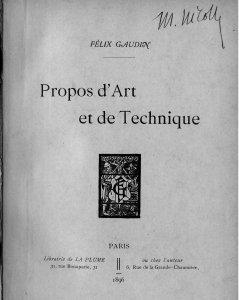 Propos d'art et de technique [electronic resource]