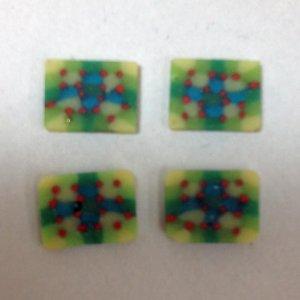 4 Rectangular Mosaic Glass Plaques