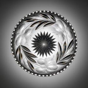 Gravic Cut Glass Plate