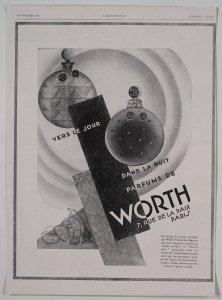 [Two perfumes by Parfums de Worth] [advertisement].