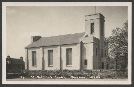 134. St. Matthew's Church, Millbrook, Jersey [picture].